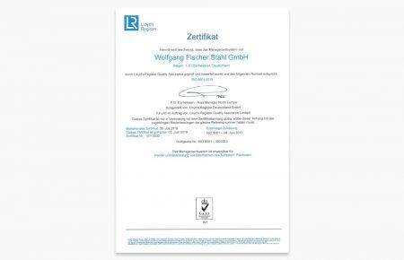 Rezertifizierung nach ISO 9001 : 2015